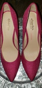 NWT Plateau Magenta linen pointed pumps!!